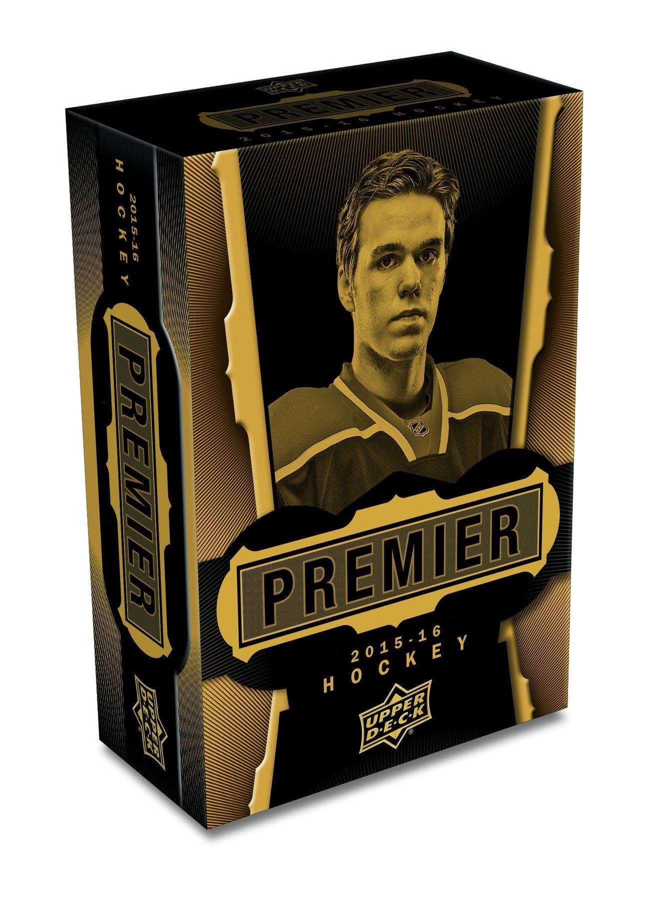 2015 16 upper deck premier hockey hobby box da card world for 16 box auto