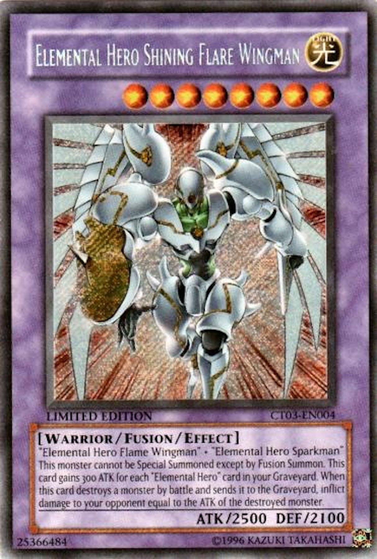Yu-Gi-Oh Limited Edition Tin Single Elemental Hero Shining ...Elemental Hero Shining Flare Wingman Deck
