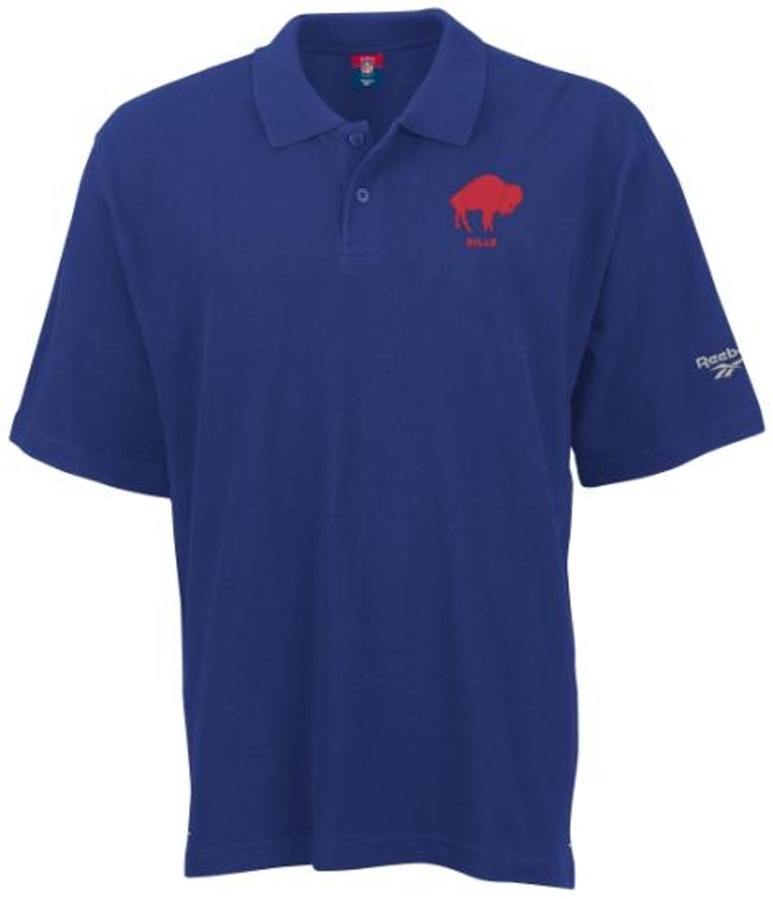 Buffalo bills football reebok retro polo shirt blue size for Buffalo bills polo shirts