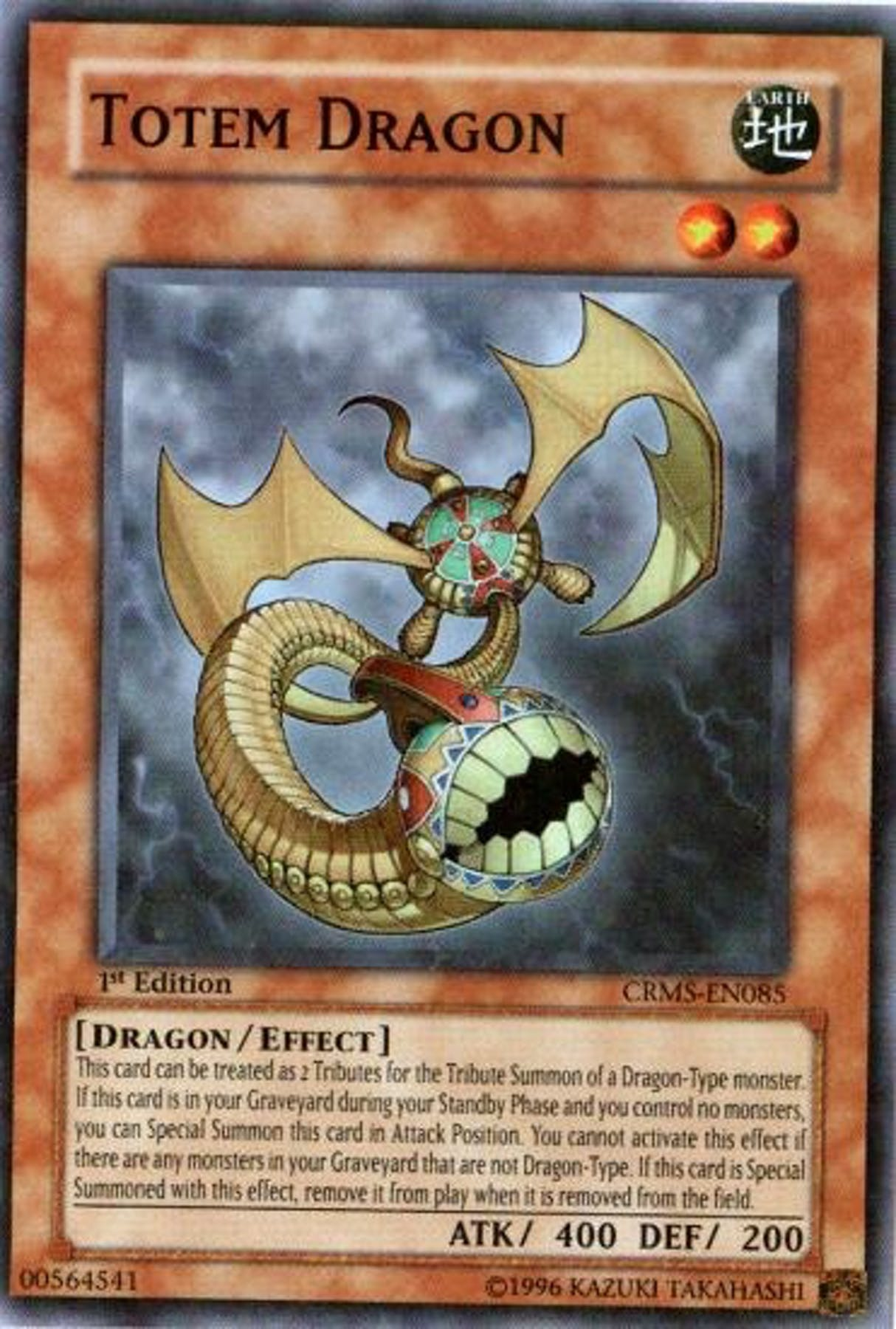 Yu Gi Oh Crimson Crisis Single Totem Dragon Super Rare