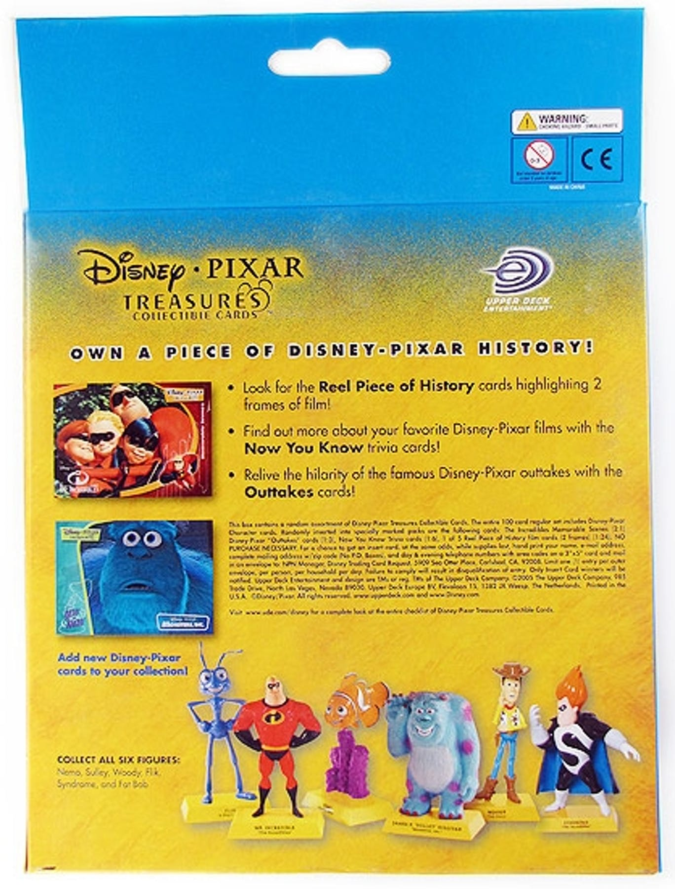 Disney Pixar Treasures Trading Cards Box With Syndrome
