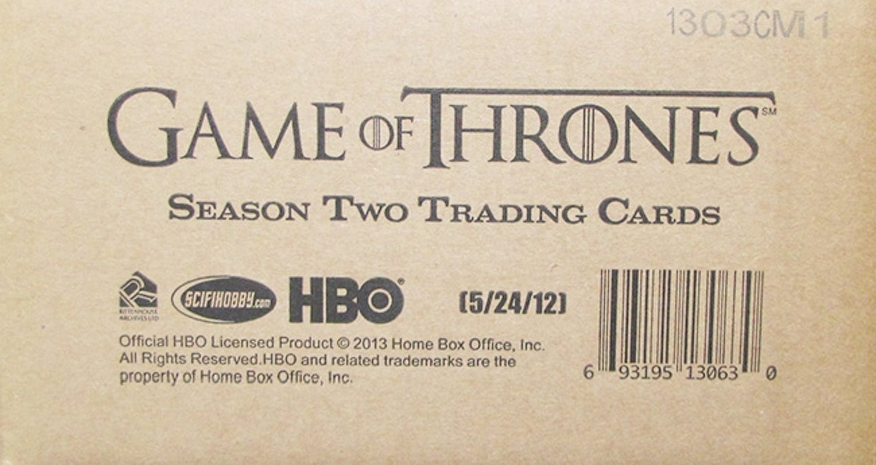 Game of Thrones Season Two Trading Cards 12-Box Case (Rittenhouse ...