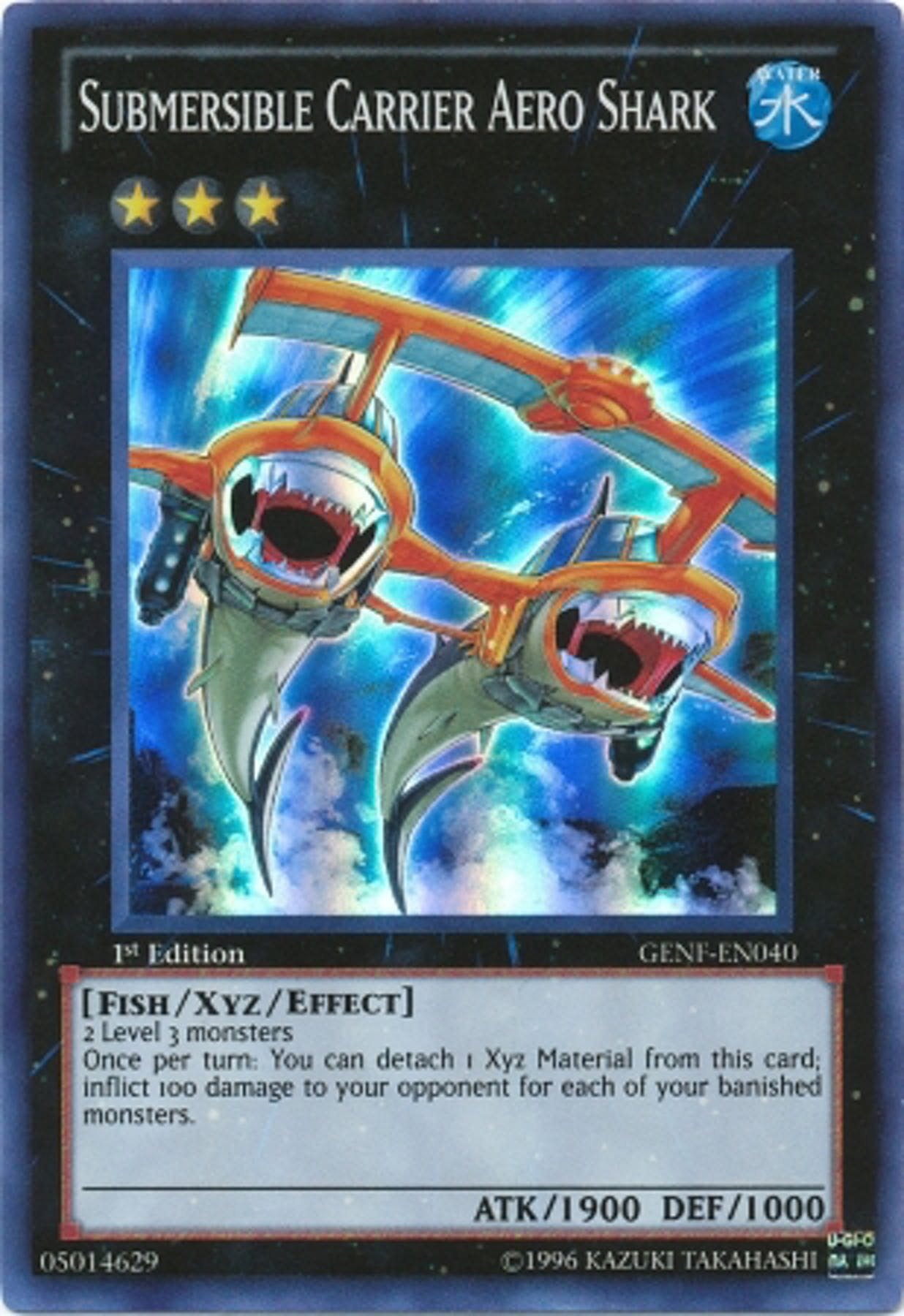 Yu Gi Oh Generation Force Single Submersible Carrier Aero